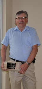 Bill Woodcock receiving Heritage award