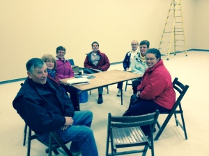 November 4, 2013 - Members of the Church Use Committee meet in the renovated building