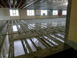 January 25, 2013 – Middle floor is removed - you can see through to Graham Hall!