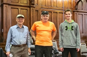 January 28, 2015 -Three generations of the Mead family - Paul, Andrew and Jeff, work on the reinstallation of the organ at St. Paul's