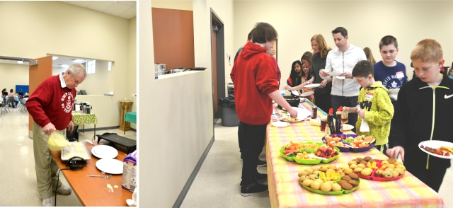 Pancakes were an integral part of The Annex on Sunday February 8 - big thanks to the Pyle family
