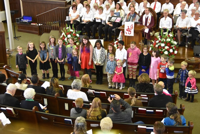 Rededicate Sanctuary Kids Choir Nov 1 2015