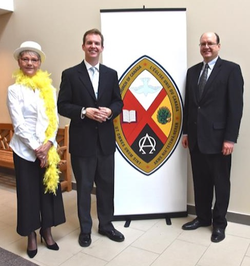 Sue Butson (Chair of St Paul's Council), Reverend Tyler Powell (St Paul's Minister) and Reverend Peter Hartmans (Executive Secretary of Hamilton Conference) at the Rededication Service