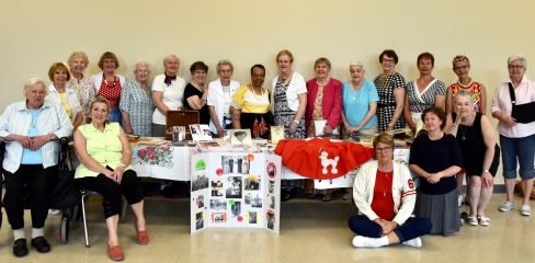 Lots of memorabilia and 50's outfits from UCW members and guests